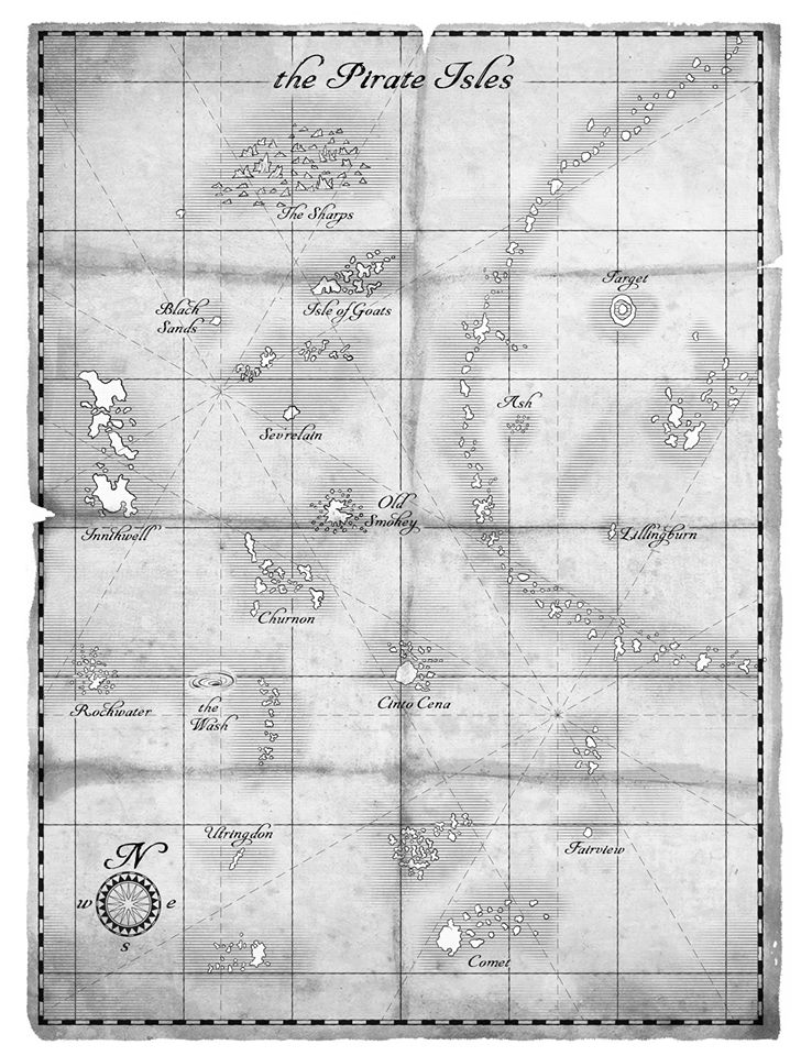 Map of The Pirate Isles