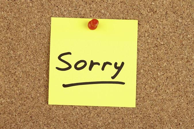 A Big 'Ol Apology